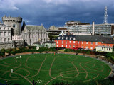 The Circular Garden of Dublin Castle with Its Carved Patterns in the Grass, Dublin, Ireland Photographic Print by Doug McKinlay