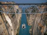 Corinth Canal, Peloponnesos, Greece Photographic Print by Walter Bibikow