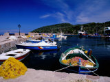 Moored Boats, Greece Photographic Print by David Tipling