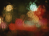 Lights Shimmer and Ripple Behind Textured Glass Photographic Print by Roy Gumpel