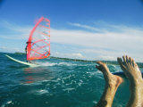 The Feet of a Windsurfer in the Water Photographic Print by Skip Brown