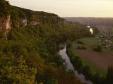 A View of the Vezere River Valley and the Cliffs of Les Eyzies Photographic Print by Kenneth Garrett