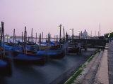 Gondolas, Venice, Italy Fotografisk tryk af Michael S. Lewis