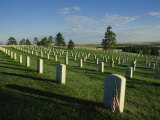 Cemetery, Little Bighorn Battlefield National Monument, Montana Photographic Print by Michael S. Lewis