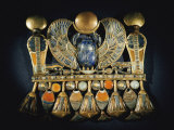 Gold and Semiprecious Stone Pendant from Tutankhamuns Tomb Fotografiskt tryck av Kenneth Garrett