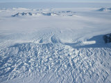 An Aerial View of Crevasses in a Polar Glacier on Antarctica Photographic Print by Gordon Wiltsie