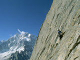 A Man Climbing Near Naysar Pass, Karakoram Mountains, Pakistan Photographic Print by Jimmy Chin