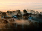 Misty View of the Restored Shaker Village at Pleasant Hill Photographic Print by Sam Abell