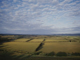 Aerial of Yarra Valley Farmland Photographic Print by Jason Edwards