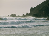 Long, Windswept Waves March Along the Craggy Shoreline Photographic Print by Sisse Brimberg