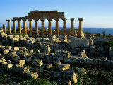 Greek Temple at Selinunte Photographic Print by Sisse Brimberg