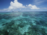 Shallow Blue Water Stretches to the Horizon Photographic Print by Michael Melford