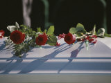 Roses Cover the Casket of an Officer Killed in the Pentagon on 9/11 Photographic Print by Stephen St. John