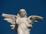 A Statue of an Angel Pointing Skyward Photographic Print by Raul Touzon