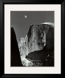 Moon and Half Dome, Yosemite National Park, 1960 Print by Ansel Adams