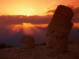 Sunset, Temple of King Antichus, Turkey Photographic Print by Michele Burgess
