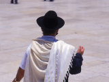 Man at the Wailing Wall, Israel Photographic Print by Lauree Feldman