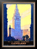 Union Terminal Cleveland, New York Central Prints by Leslie Ragan