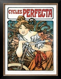 Cycles Perfecta Prints by Alphonse Mucha