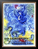 The Magic Flute Poster by Marc Chagall