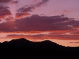 Silhouetted Mountains at Sunset, Park City, UT Photographic Print by David Carriere