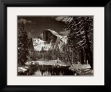 Half Dome, Merced River, Winter Poster by Ansel Adams