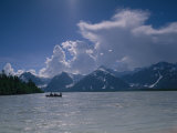 Boaters on Alsek River, Alaska Photographic Print by David Edwards