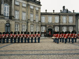 The Parading of the Guards at Amalienborg Palace in Copenhagen Photographic Print by Sisse Brimberg