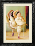 Ballerina to the Handrail Print by Fernando Botero