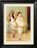 Ballerina to the Handrail Print by Fernando Botero