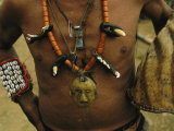 A Naga Shaman Adorned with Talismans and Other Jewelry Photographic Print by Steve Winter