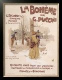 La Boheme Prints by Adolfo Hohenstein
