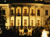 The White House South Portico is Ablaze with Light During the Christmas Holiday Photographic Print by Sisse Brimberg