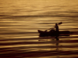 Person in Boat in Water Photographic Print by Lee Peterson