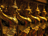 Golden Figures, Thailand Photographic Print by Walter Bibikow
