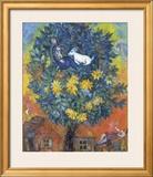 Otoño en la aldea Obra de arte por Marc Chagall