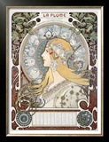 Zodiac Le Plume Posters by Alphonse Mucha