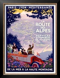 La Route des Alpes Posters by Roger Broders