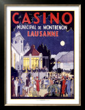 Casino Lausanne Poster by Jacomo