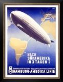 Graf Zeppelin, Hamburg to Amerika, c.1937 Posters