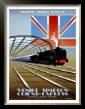 Victoria Station, London, Orient Express Poster by Pierre Fix-Masseau