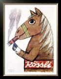 Rossli Cigars Print by Herbert Leupin
