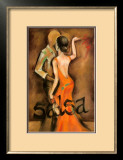 Salsa Dancers Posters by Jennifer Goldberger