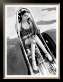 Pin-Up Girl: Nhra Dragster Print by David Perry