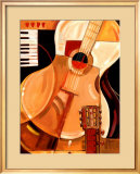 Abstract Guitar Prints by Paul Brent