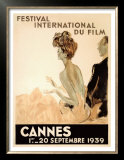 Festival International du Film, Cannes, 1939 Posters by Jean-Gabriel Domergue