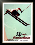 Canadian Pacific Snow Ski Rockies Prints