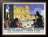 LNER, Munich and Central Europe, Lner, 1929 Prints by Ludwig Hohlwein