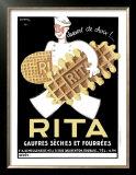 Belgium Rita Waffle Bisquit Poster