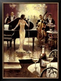 Jazz Night Out Poster by Brent Heighton